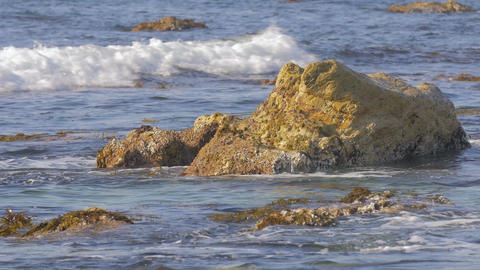Wave and Coast in Noto Peninsula,Ishikawa,Japan.Filmed in 4K Footage