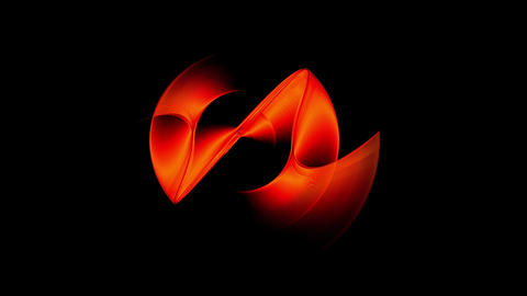 Red Dynamic Rotational Motion Animation