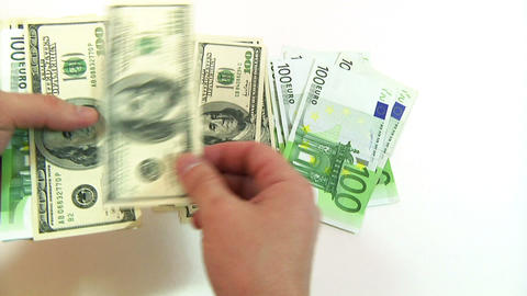 Man Counting Money stock footage