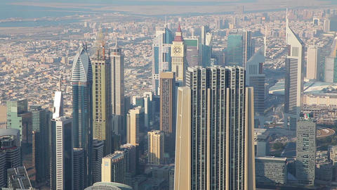 View From Burj Khalifa Out On Dubai, United Arab Emirates Footage