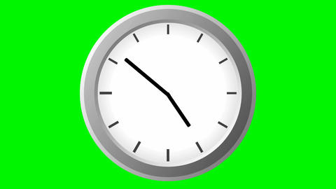 Clock Time Lapse On Green stock footage