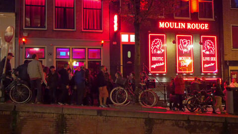 Red light district, Amsterdam, Holland Footage