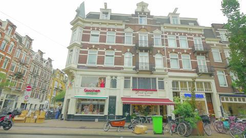 Crowds of people on Amsterdam street, Holland, 4k UHD Footage