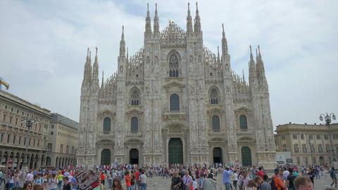 Milan Cathedral (Piazza del Duomo), Italy, 4k, UHD Footage
