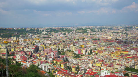Naples from a hilltop, Italy, 4k UHD Footage