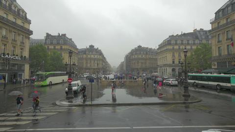 Street scene in Paris, France, 4k, UHD Footage