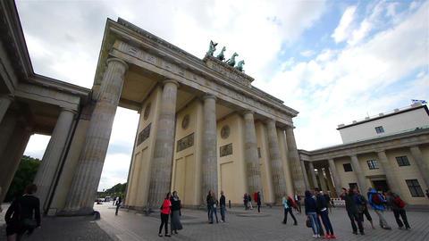 Brandenburg Gate, Berlin, Germany stock footage