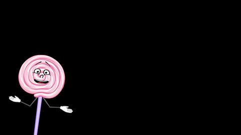 Talking Lollipop, With Alpha Channel stock footage