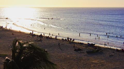 Beach Sunset Timelapse 04 stock footage