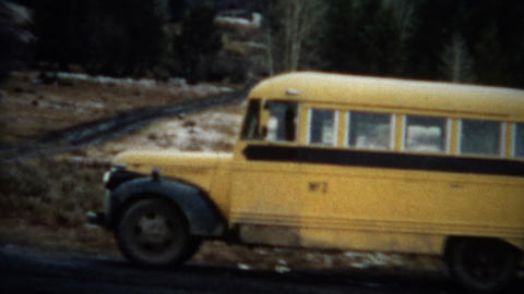 (8mm Film) Short Bus And Truck 1963 stock footage