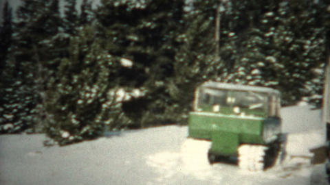 (8mm Film) Winter Cabin Snow Mover 1956 Live Action