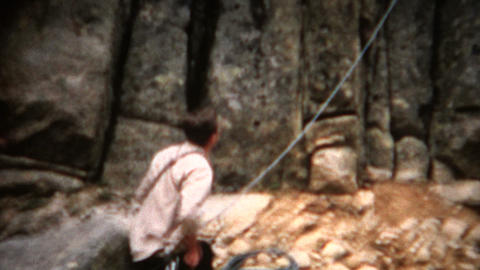 (8mm Film) Rock Climbing 1958 Footage