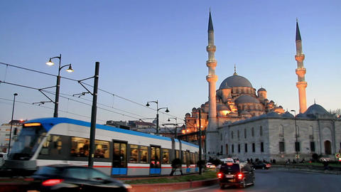 Yeni Mosque on pray time Footage