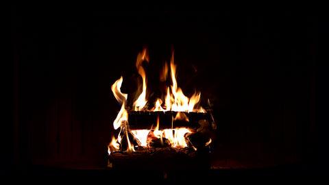 Fireplace burning 4K Footage