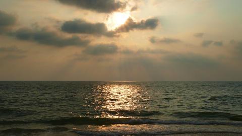 tropical sea sunset on the beach - timelapse Footage