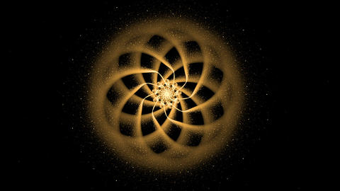 Golden Ornamental Round Pattern, Mandala Animation, Festive Background Animation