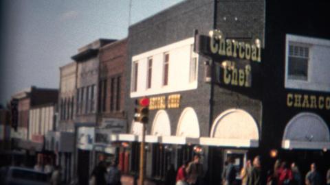 (8mm Film) Downtown Boulder Colorado 1969 Hippies Footage