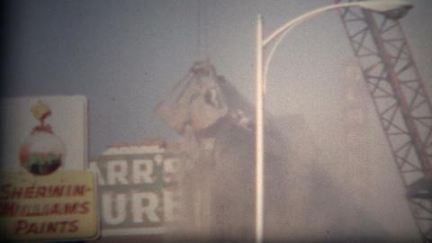(8mm Film) Building Demolition Boulder Colorado 1968 Footage