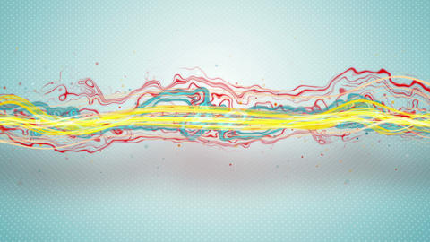 colorful energy waves loopable animation 4k (4096x2304) Animation