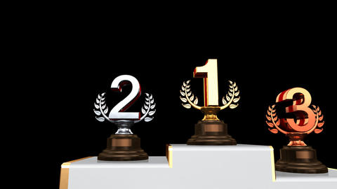 Podium Prize Trophy Aa2 HD Stock Video Footage