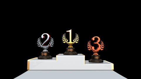 Podium Prize Trophy Bb2 HD Stock Video Footage