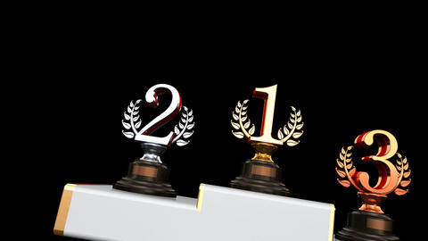Podium Prize Trophy Cb2 HD Stock Video Footage