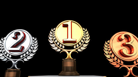 Podium Prize Trophy Cc2 HD Animation