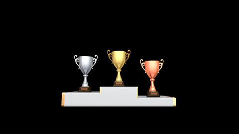 Podium Prize Trophy Cup Aa2 HD Stock Video Footage