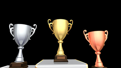Podium Prize Trophy Cup Aa2 HD Animation