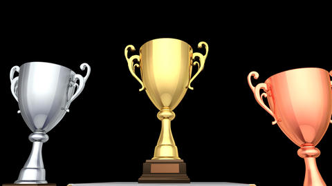 Podium Prize Trophy Cup Ca2 HD Animation