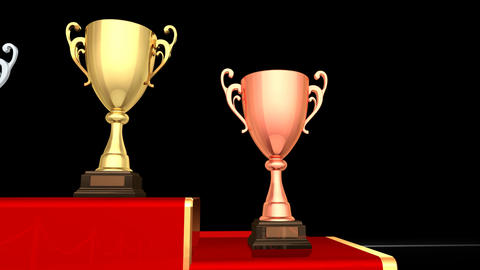Podium Prize Trophy Cup Fa HD Animation