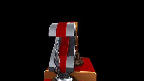 Podium Prize Trophy Ea HD Stock Video Footage