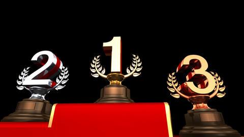 Podium Prize Trophy Ea HD Animation