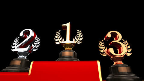 Podium Prize Trophy Eb HD Animation