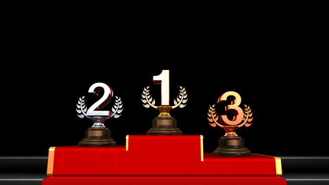 Podium Prize Trophy Fa HD Stock Video Footage