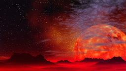 Incandescent planet Stock Video Footage