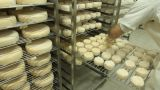 Blue cheese gouda Factory food process parmesan swiss dairy feta france milk Footage
