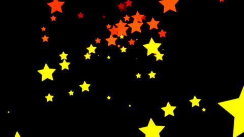 Loopable Falling Stars Animation with Alpha Channel Animation