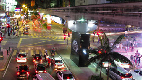 City Traffic lights time lapse Stock Video Footage