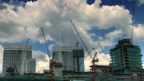 Under construction time lapse Stock Video Footage