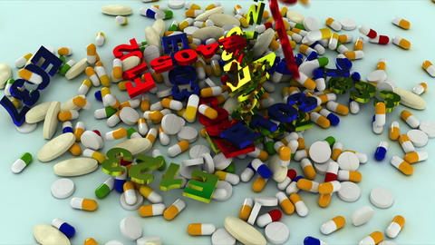 pill Stock Video Footage