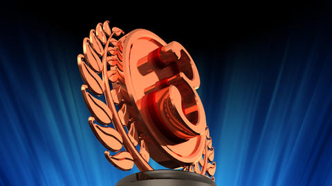 Medal Prize Trophy Db6 HD Stock Video Footage