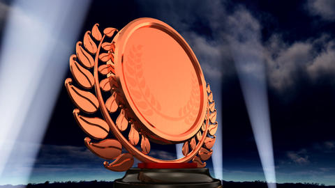 Medal Prize Trophy E3sky HD Stock Video Footage