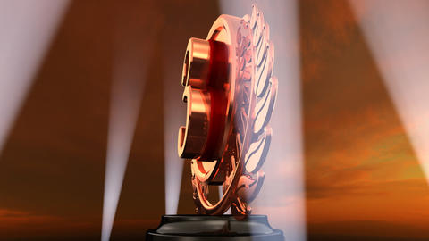 Medal Prize Trophy Eb4sky HD Stock Video Footage