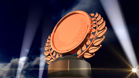 Medal Prize Trophy F3sky HD Stock Video Footage