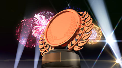 Medal Prize Trophy F5Flash HD Stock Video Footage