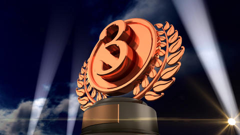 Medal Prize Trophy Fb3sky HD Stock Video Footage