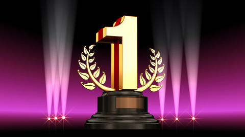 Number Trophy Prize A2 HD Stock Video Footage