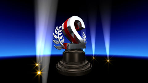 Number Trophy Prize B2 HD Stock Video Footage