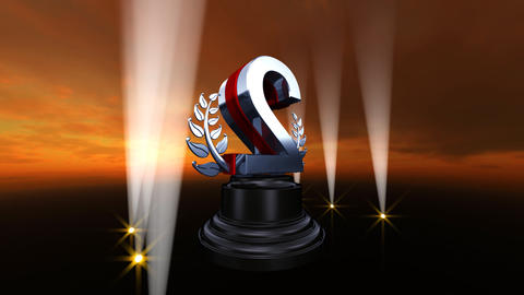 Number Trophy Prize B4sky HD Stock Video Footage